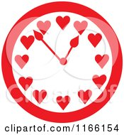 Red Timeless Love Heart Clock