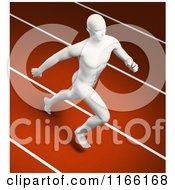 Clipart Of A Runners Body On A Track Royalty Free CGI Illustration