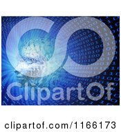 Clipart Of A 3d Head Forming In A Binary Tunnel Royalty Free CGI Illustration by Mopic