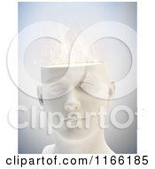 Clipart Of A 3d Male Head With Smoke Royalty Free CGI Illustration