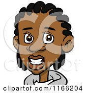 Cartoon Of A Black Teenage Boy With Cornrows Avatar Royalty Free Vector Clipart