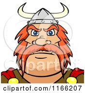 Cartoon Of A Viking Man Avatar Royalty Free Vector Clipart