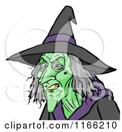 Cartoon Of A Witch Avatar Royalty Free Vector Clipart by Cartoon Solutions