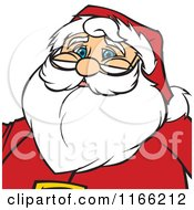 Cartoon Of A Santa Christmas Avatar Royalty Free Vector Clipart by Cartoon Solutions