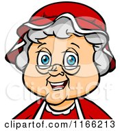 Cartoon Of A Mrs Claus Christmas Avatar Royalty Free Vector Clipart by Cartoon Solutions