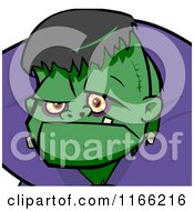 Cartoon Of A Frankenstein Avatar Royalty Free Vector Clipart by Cartoon Solutions