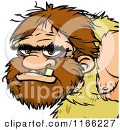 Cartoon Of A Caveman Avatar Royalty Free Vector Clipart by Cartoon Solutions