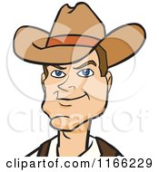 Cartoon Of A Cowboy Avatar Royalty Free Vector Clipart by Cartoon Solutions