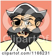 Cartoon Of A Pirate Avatar On Pink Royalty Free Vector Clipart by Cartoon Solutions