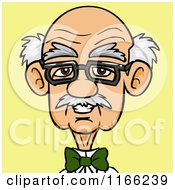 Bespectacled Old Man Avatar On Yellow