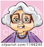 Granny Woman Avatar On Pink