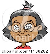 Cartoon Of A Bespectacled Indian Girl Avatar Royalty Free Vector Clipart by Cartoon Solutions