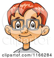 Red Haired Bespectacled Boy Avatar