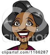 Cartoon Of A Black Woman Avatar Royalty Free Vector Clipart