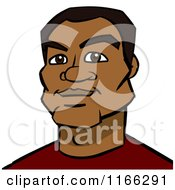 Cartoon Of A Black Man Avatar Royalty Free Vector Clipart by Cartoon Solutions #COLLC1166291-0176