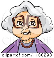 Cartoon Of A Granny Woman Avatar Royalty Free Vector Clipart