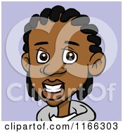 Black Teenage Boy With Cornrows Avatar On Purple