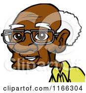 Cartoon Of A Senior Black Man Avatar Royalty Free Vector Clipart by Cartoon Solutions #COLLC1166304-0176