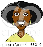Cartoon Of A Black Woman Avatar 2 Royalty Free Vector Clipart by Cartoon Solutions #COLLC1166310-0176