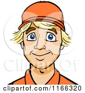 Cartoon Of A Worker Man Avatar Royalty Free Vector Clipart