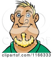 Cartoon Of A Blond Man Avatar 4 Royalty Free Vector Clipart