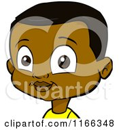 Cartoon Of A Black Boy Avatar Royalty Free Vector Clipart
