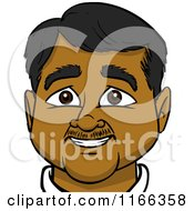 Cartoon Of A Happy Indian Man Avatar Royalty Free Vector Clipart