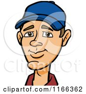 Cartoon Of A Man Wearing A Baseball Cap Avatar Royalty Free Vector Clipart by Cartoon Solutions #COLLC1166362-0176