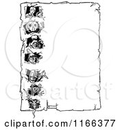 Clipart Of A Retro Vintage Black And White Land Of Oz Border Royalty Free Vector Illustration