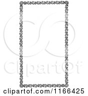 Clipart Of A Retro Vintage Black And White Floral Border Royalty Free Vector Illustration