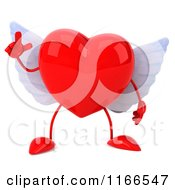 Clipart Of A 3d Red Winged Heart With An Idea Royalty Free CGI Illustration by Julos