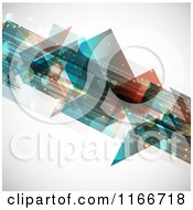 Clipart Of A Background Of Abstract Flares And Shapes Flowing Diagonally Royalty Free Vector Illustration