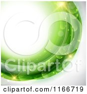 Clipart Of A Background Of Light Flares And Green Royalty Free Vector Illustration