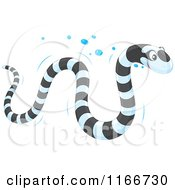 Cartoon Of A Banded Sea Kraits Snake Royalty Free Vector Clipart by Alex Bannykh