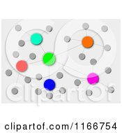 Colorful Cluster Network On Gray