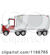 Cartoon Of A Big Rig Tanker Truck Royalty Free Vector Clipart