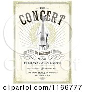 Clipart Of A Grungy Concert Poster Design With Sample Text Royalty Free Vector Illustration by BestVector