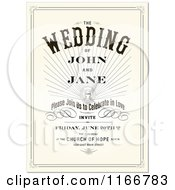 Vintage Wedding Invitation With Sample Text