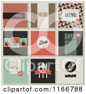 Clipart Of Retro Styled Restaurant Menu Designs 2 Royalty Free Vector Illustration