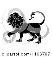 Black And White Leo Lion Star Sign And Symbol