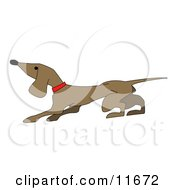 Cute Little Dachshund Dog Clipart Illustration