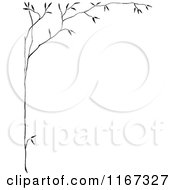 Clipart Of A Retro Vintage Black And White Thin Tree Border Royalty Free Vector Illustration by Prawny Vintage #COLLC1167327-0178