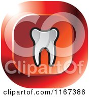 Clipart Of A Red Tooth Icon Royalty Free Vector Illustration by Lal Perera