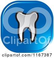 Clipart Of A Blue Tooth Icon Royalty Free Vector Illustration