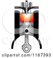 Clipart Of A Diesel Compression Ignition Royalty Free Vector Illustration