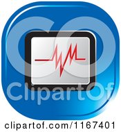 Clipart Of A Blue Medical Cardiogram Icon Royalty Free Vector Illustration