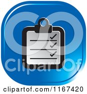 Clipart Of A Blue Medical Chart Icon Royalty Free Vector Illustration