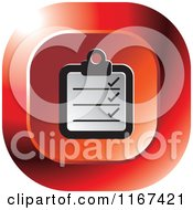 Clipart Of A Red Medical Chart Icon Royalty Free Vector Illustration