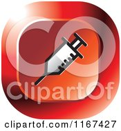 Clipart Of A Red Medical Doctor Icon Royalty Free Vector Illustration