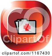 Clipart Of A Red Medical First Aid Folder Icon Royalty Free Vector Illustration by Lal Perera
